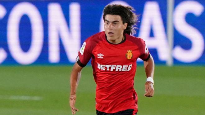 Luka Romero en su debut con el Mallorca |