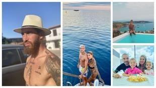 El modo vacaciones de Ramos, los paraísos de Dybala y Theo...
