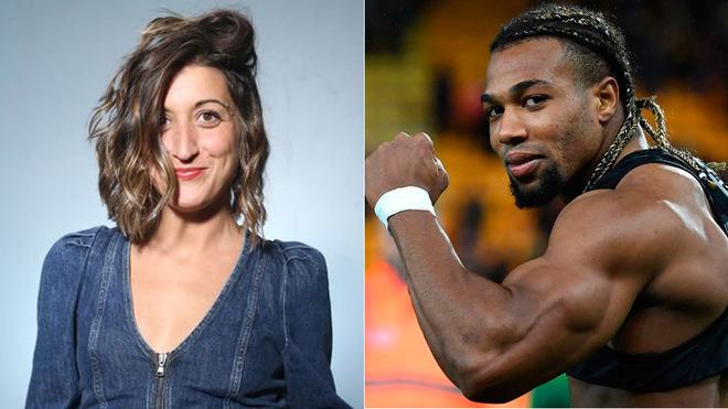 La humorista Susi Caramelo y el futbolista Adama Traoré.