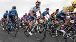 Alejandro Valverde en el a etapa de hoy