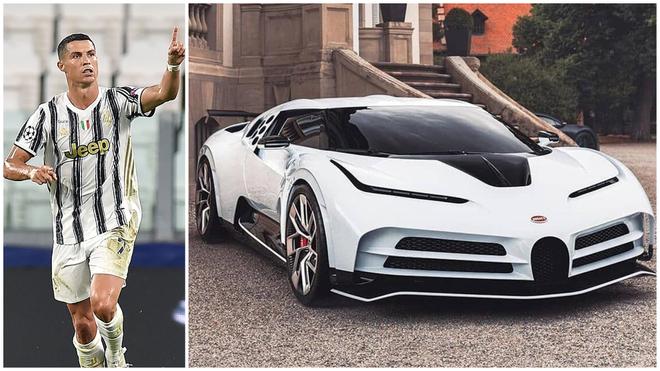 Cristiano y uno de los 10 únicos Bugatti Centodieci que existen en el...