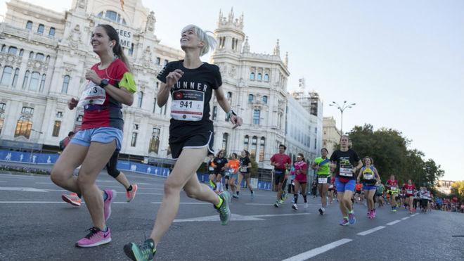 Un momento de la carrera del Medio maratón de la Mujer de Madrid