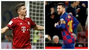 Robert Lewandowski y Leo Messi, las dos estrellas del duelo entre...