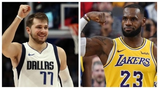 Luka Doncic y Lebron James, dos de las grandes estrellas de la NBA...