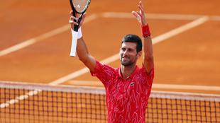Novak Djokovic en un partido.