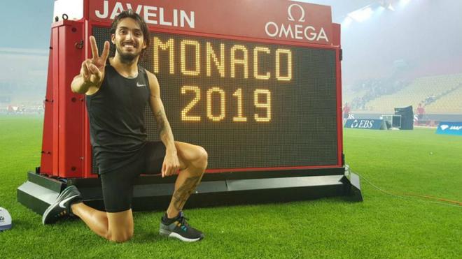 Fernando Carro tras batir el récord de España de 3.000 obstáculos...