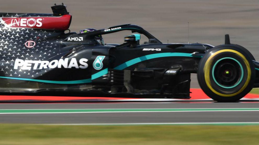 Lewis Hamilton, durante el GP del 70 Aniversario en Silverstone.