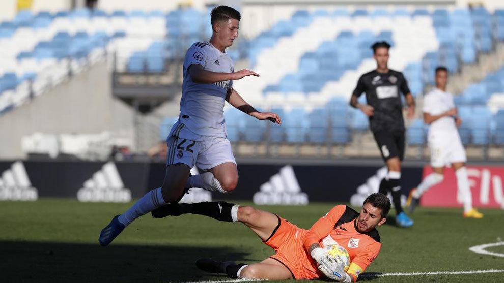 Miguel Baeza, durante un partido contra el Sanse