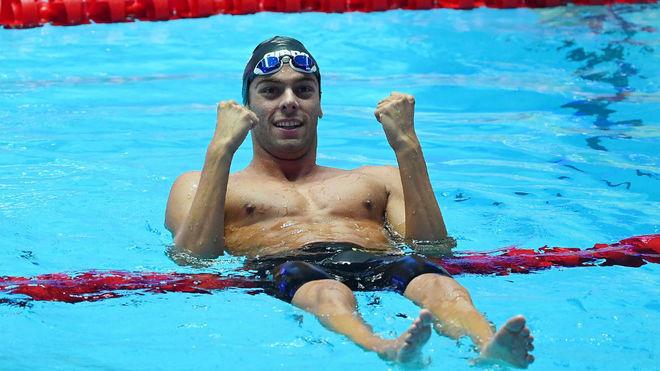Gregorio Paltrinieri, tras una competición.