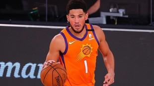 Devin Booker, en un partido de los Suns.