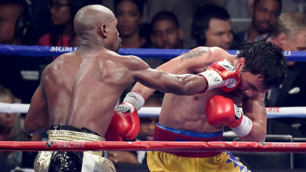 Floyd Mayweatther se impuso a Manny Pacquiao en 2015.