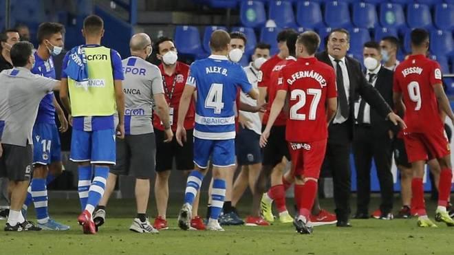 El final del partido entre Deportivo y Fuenlabrada.