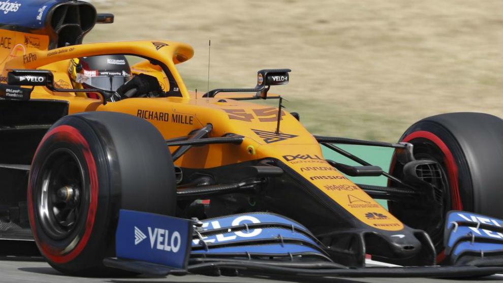 Carlos Sainz, durante los Libres del GP de España de F1.