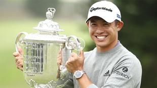 Collin Morikawa celebra el título del PGA Championship.