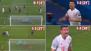La desastrosa media hora que sacó los colores al Barça: ¡cuatro goles del Bayern!