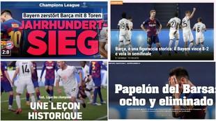 """La derrota del Barcelona da la vuelta al mundo: """"Ridículo histórico"""", """"Papelón""""..."""
