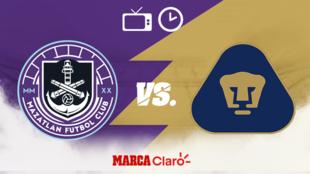 Mazatlán FC vs Pumas: Horario y dónde ver en vivo por TV el partido.