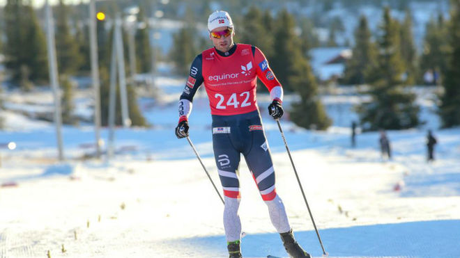 Petter Northug, en una prueba de esquí de fondo.