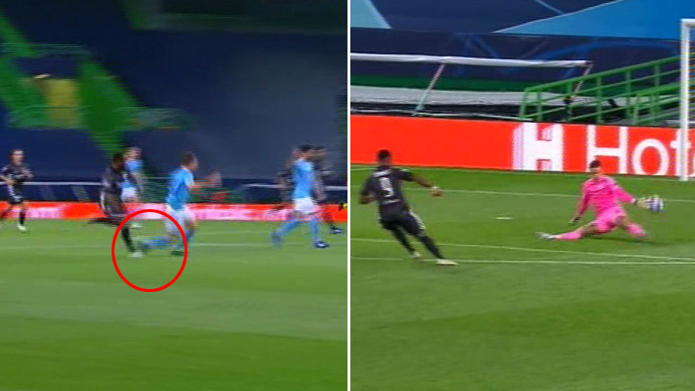 The controversial goal that condemned Manchester City: Was there a foul on Laporte?