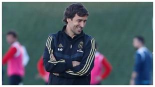 Raúl, durante un partido del Castilla.