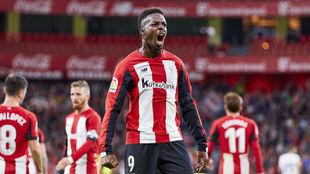 Williams celebra un gol con el Athletic