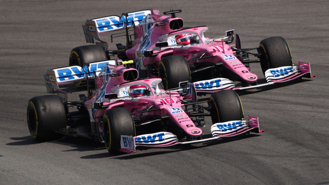Los pilotos de Racing Point hicieron una competitiva carrera en...