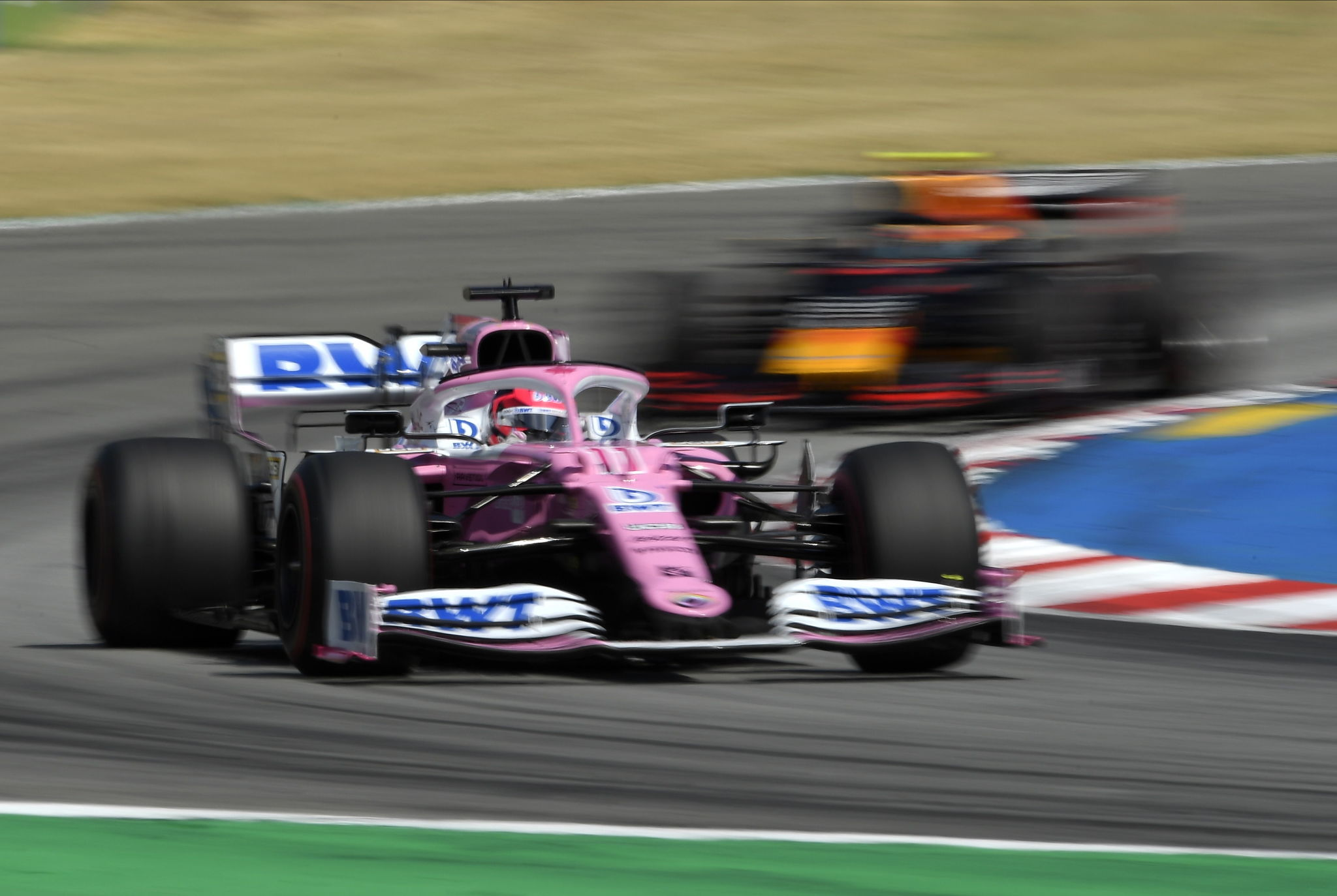 Montmelo (Spain), 16/08/2020.- Mexican Formula One driver lt;HIT gt;Sergio lt;/HIT gt; lt;HIT gt;Perez lt;/HIT gt; of BWT Racing Point in action during the Formula One Grand Prix of Spain at the Circuit de Barcelona-Catalunya in Montmelo, Spain, 16 August 2020. (Fórmula Uno, España) EFE/EPA/Josep Lago / Pool