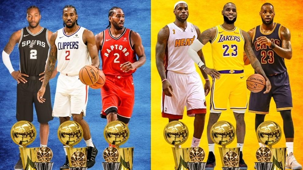 Lo nunca visto: Kawhi y LeBron buscan el anillo y el MVP con tres equipos distintos