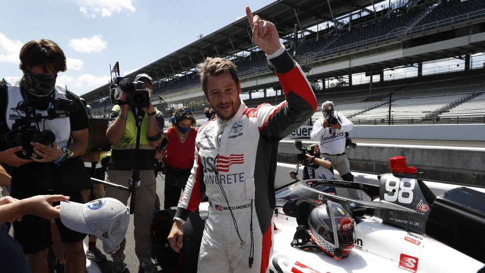 Marco Andretti Pole Position Indy 500 2020