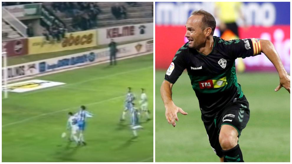 Nino marcó con el Elche 22 años después de su primer gol.