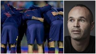 Iniesta animó al Barcelona en redes sociales.