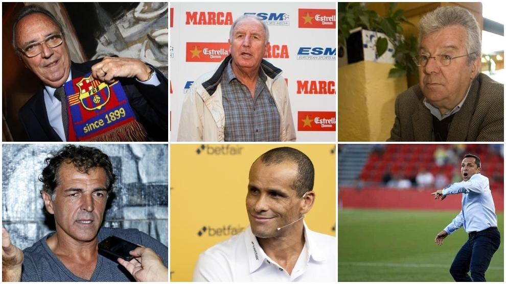Gaspart, Rexach, Minguella, Nadal, Sergi y Rivaldo