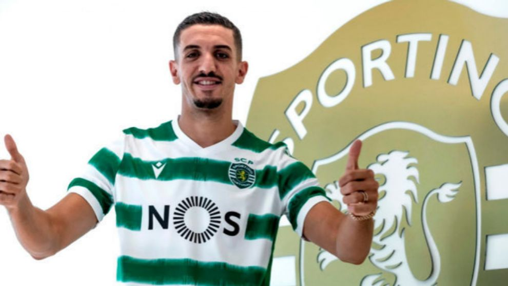 Feddal (31) posa con la camiseta del Sporting de Portugal.