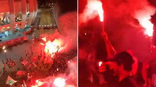 La fiesta de vergüenza vuelve a ocurrir en Paris: cohetes y festejos en el Parque de los Príncipes