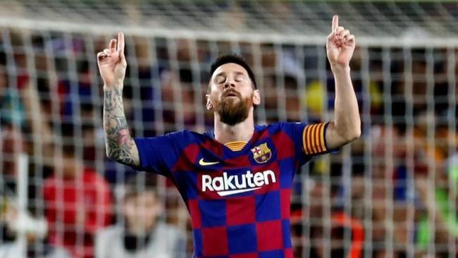 Messi celebra un gol ante el Sevilla.