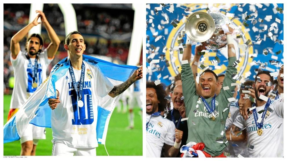 Di María y Keylor, a un paso de lo que solo logró Seedorf: jugar y ganar la final de la Champions tras levantarla con el Madrid