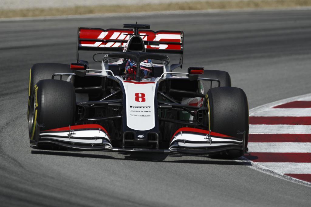 El VF20 de Romain Grosjean en Montmeló.