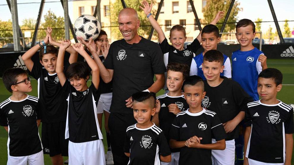 Zinedine Zidane, durante la presentaci