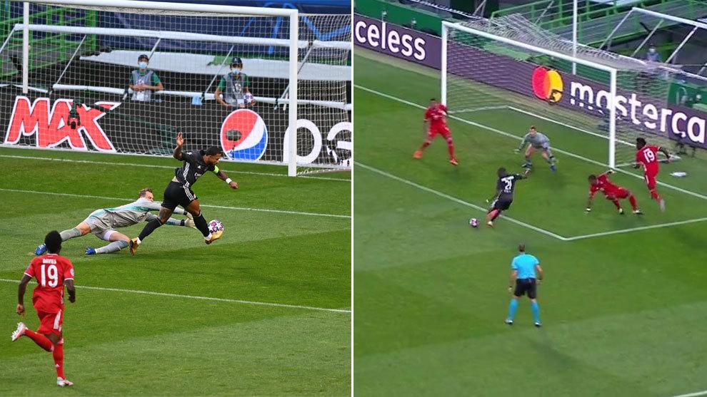 Las dos clarísimas ocasiones del Lyon con 0-0: si perdonas esto ante el Bayern...