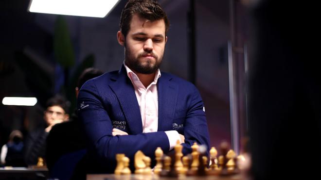 Magnus Carlsen durante una partida en el Tata Steel Chess Tournament.