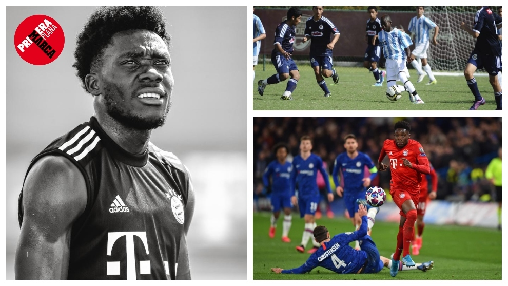 Alphonso Davies: From a refugee camp to the Champions League final