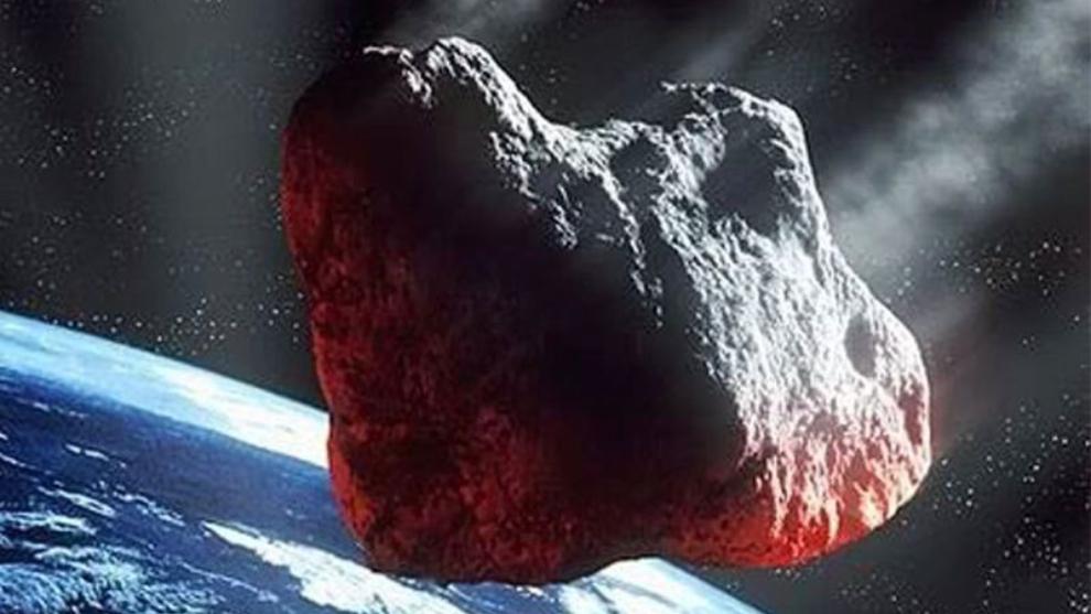 El asteroide 2020 QG sobrevolando la Tierra.