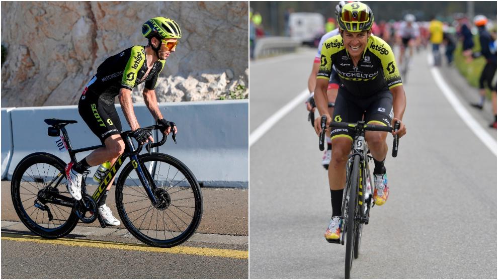 Adam Yates y Esteban Chaves liderarán al Mitchelton en el Tour.