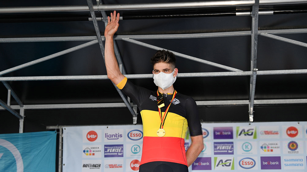 Wout Van Aert, campeón de Bélgica en contrarreloj (2020).