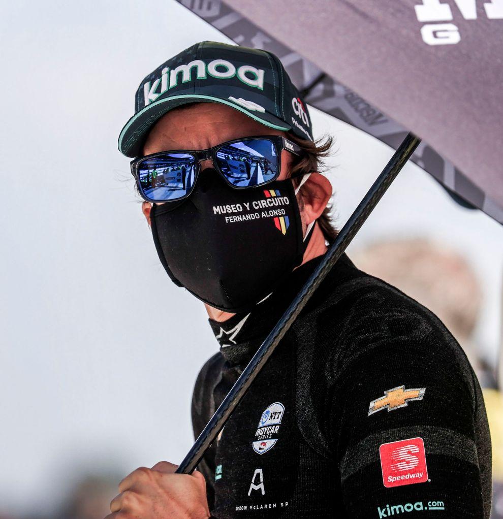 Fernando Alonso, en su tercer intento en Indianápolis.