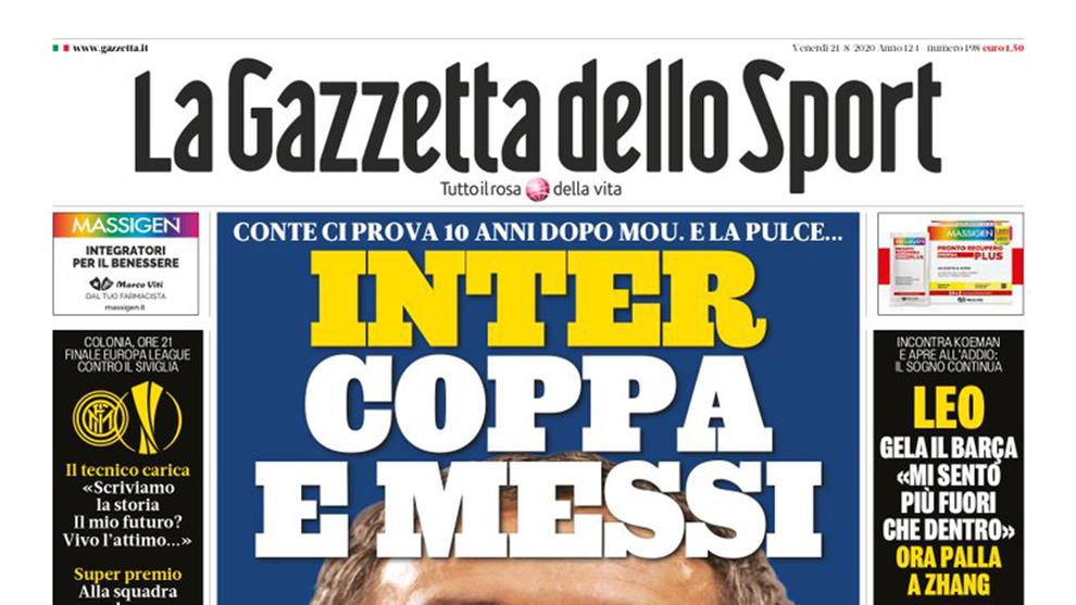El Inter, al acecho tras la reunión Messi-Koeman