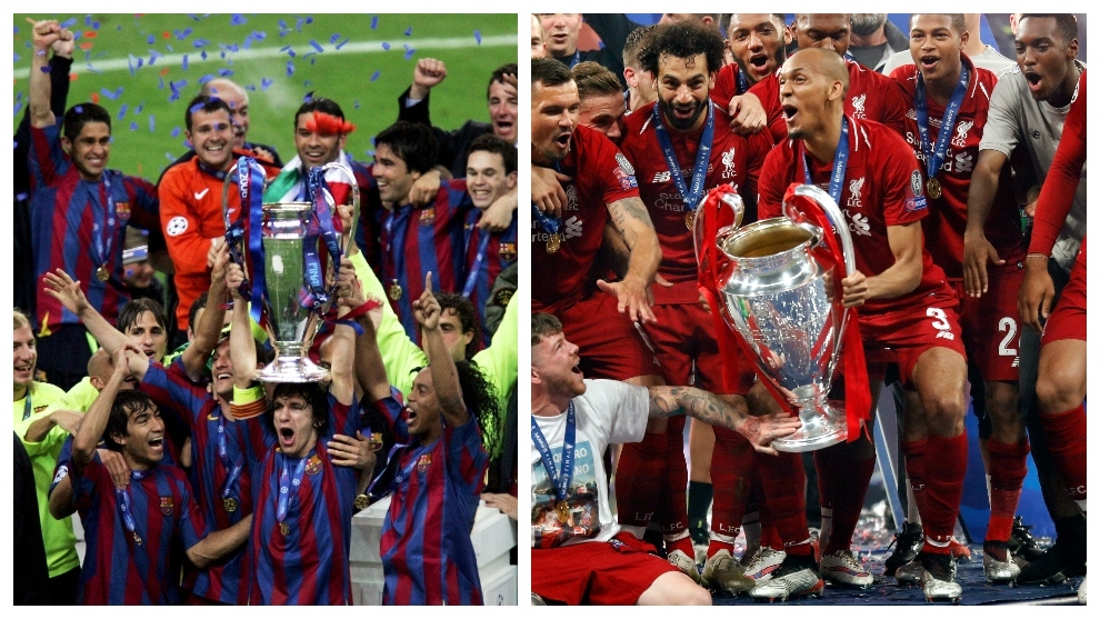 Barcelona won the Champions League in 2006 without spending a euro, Liverpool splashed 182 million euros to win it in 2019
