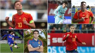 Olmo, Aleñá, Traoré, Cucurella, Eric García y Thiago son varios...