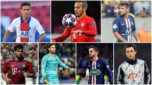 Sergio Rico, Bernat, Ander Herrera, Sarabia, Odriozola, Javi Martínez...