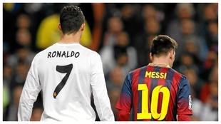 Cristiano y Messi, durante un Cláisico.